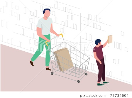 A father took his son to buy books 72734604