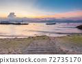 Sunset view of the Moalboal beach, Cebu, Philippines 72735170