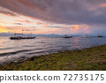 Deamatic sunset over the beach, Philippines 72735175
