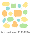 Various hand-painted balloons colorful icon set / loosely cute 72735590