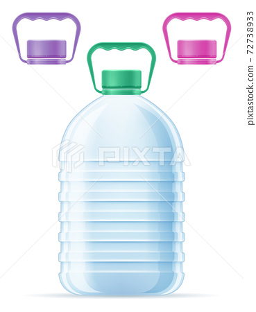 plastic bottle for drinking water transparent vector illustration isolated 72738933