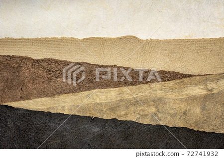 abstract landscape - set of textured paper sheets 72741932
