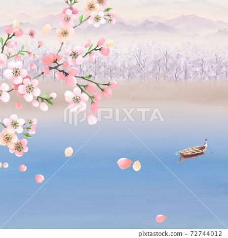 色彩豐富的花卉素材組合和設計元素 72744012