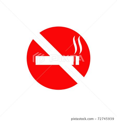 Symbol logo design for no smoking area 72745939