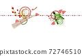 Illustration of Tsurugame Mizuhiki Wide size background material 72746510