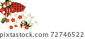 Illustration banner material of plum blossom and beautiful fan 72746522