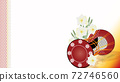Illustration wide background material of drum and daffodil flower 72746560