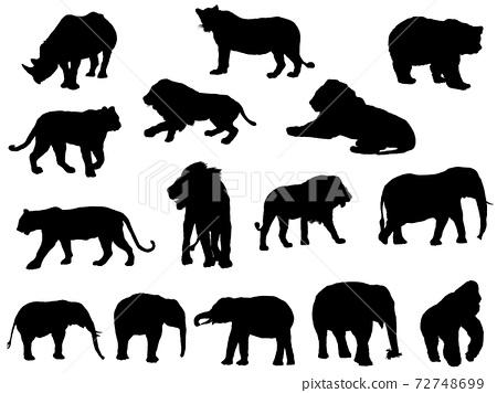 動物silhouette_set 2 72748699