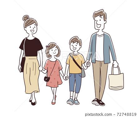 矢量圖素材:家庭購物,購物 72748819
