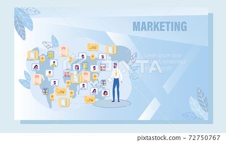 Digital Marketing Around World Advertising Poster 72750767
