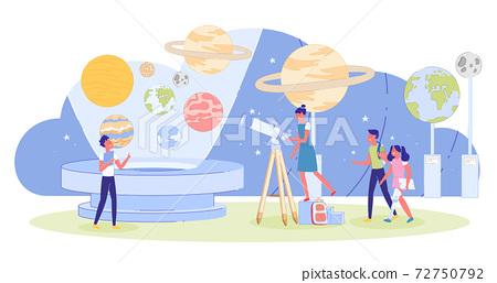 Children Visiting Innovation Educative Planetarium 72750792