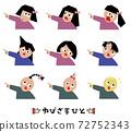 손가락을 가리키는 사람 아이콘 세트 72752343