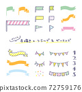 Hand-painted flag & garland pattern icon set / loosely cute 72759176
