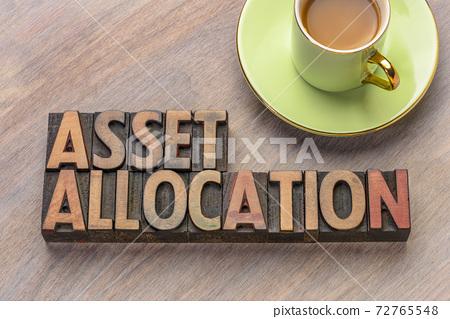asset allocation in letterpress wood type 72765548