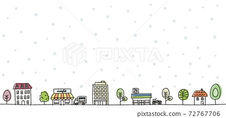 城市景觀圖手繪冬天 72767706