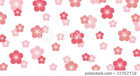梅花日本紙春天背景 72767719