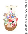 新年卡寶船,七福神和Amabier插圖 72770714