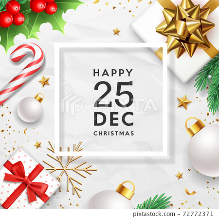 Merry Christmas december happy time design vector.eps 72772371