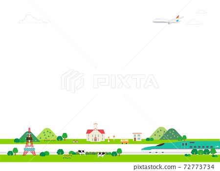 可以在背景中使用的北海道觀光風景(夏季) 72773734