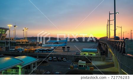 仁川國際機場日出景色 72776283