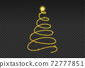 Christmas tree gold bokeh glitter particles isolate on png or transparent  background with sparkling  snow, star light  fo , New Year, Birthdays, Special event, luxury card,  rich style.   72777851