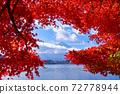 Fuji and autumn leaves 72778944
