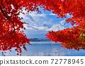 Fuji and autumn leaves 72778945