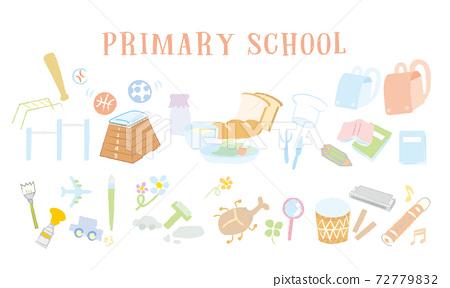 Elementary school image illustration hand-painted vector elementary school student school education 72779832