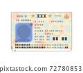 護照頭像照片頁插圖(通用目的,人物剪影) 72780853