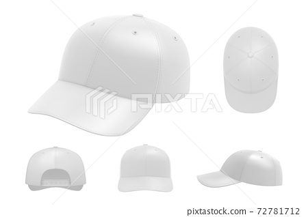 White cap mockup set collection 72781712
