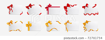 Realistic gift boxes mockup set collection 72781734