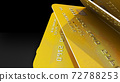 Realistic detailed gold credit cards 72788253