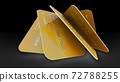 Realistic detailed gold credit cards 72788255