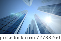 Perspective view, the skyscraper is directed to the sky and Sun. 72788260