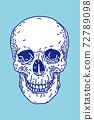 해골 정면 벡터 일러스트 72789098