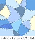 블루 플레이트 벽지 지그재그 모양 72790366