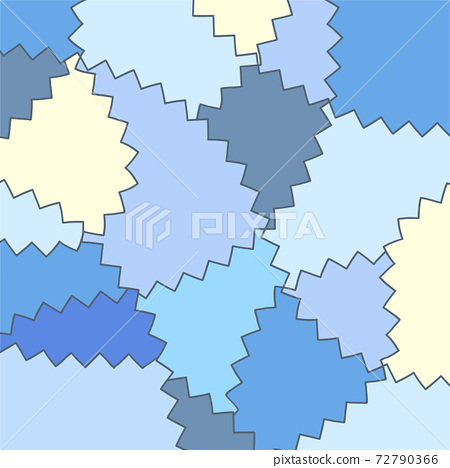 Blue plate wallpaper zigzag pattern 72790366