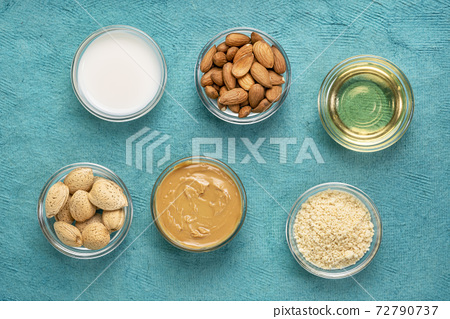 collection of almond super foods 72790737
