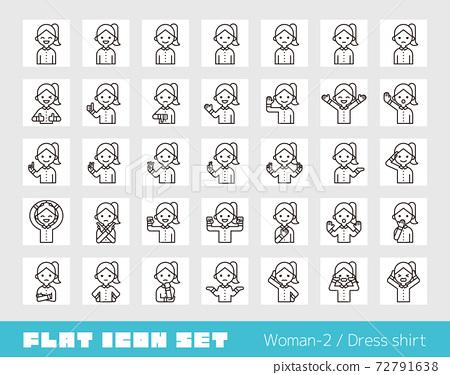 Person icon set (female 2) shirt 72791638