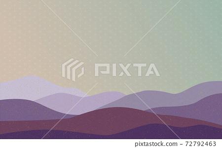 Illustration material: Japanese style Japanese pattern mountain Qinghai wave pattern hemp leaf pattern landscape mountain 72792463