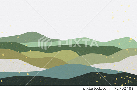 Illustration material: Japanese style Japanese pattern mountain Qinghai wave pattern landscape mountain hill 72792482
