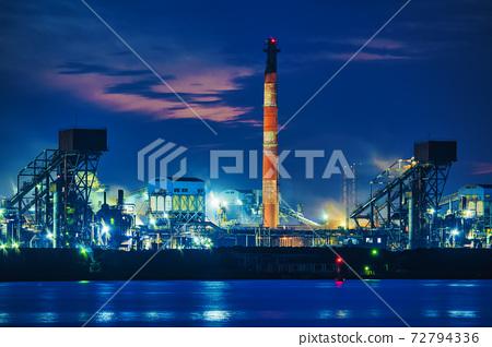 [協和工業區,新日鐵住友金屬公津鋼鐵廠工廠夜景] 72794336