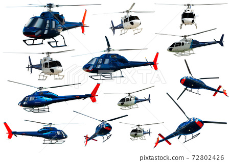 Helicopters set isolated 72802426