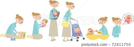 媽媽和寶寶 72811750