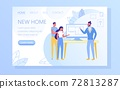 Real Estate Agency Flat Vector Web Banner Template 72813287