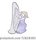 一個女人彈豎琴 72828383