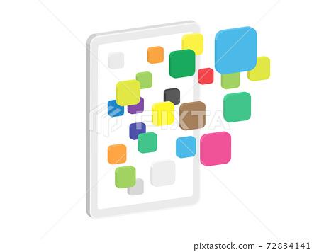 3D illustration of tablet PC application 72834141