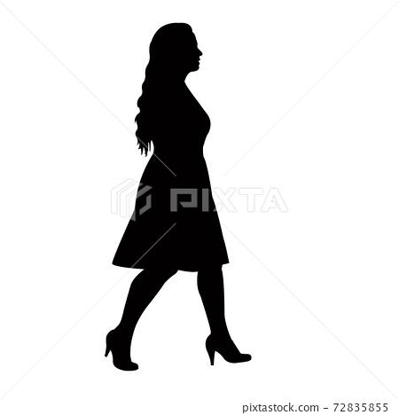 a woman walking body silhouette vector 72835855