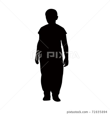 a girl body silhouette vector 72835894