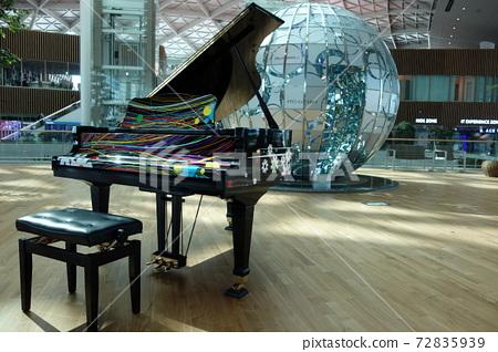 Piano and globe 72835939